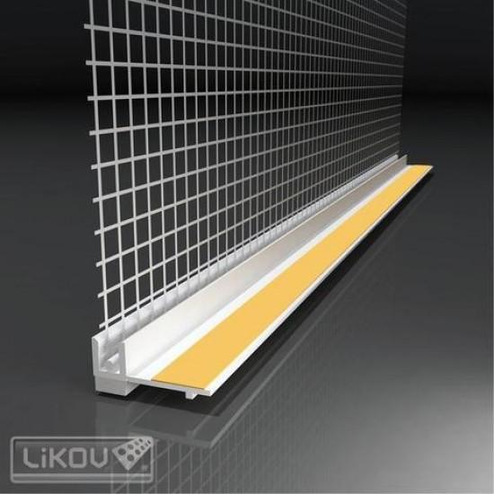 Profil PVC ferestre şi uşi cu plasa, 1,6m/buc