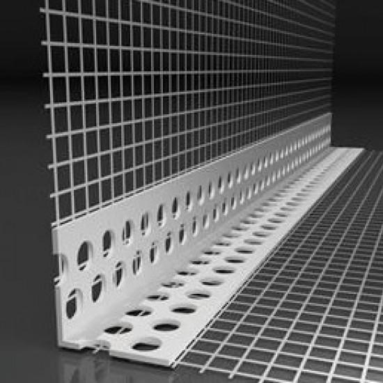Colţar PVC cu plasă 10/15cm EJOT, 2,5m/buc